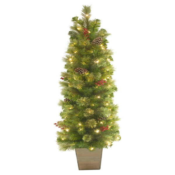 Holiday Bright Lights TRTD-5BSDWW Christmas Tree With Pot, 5 Ft