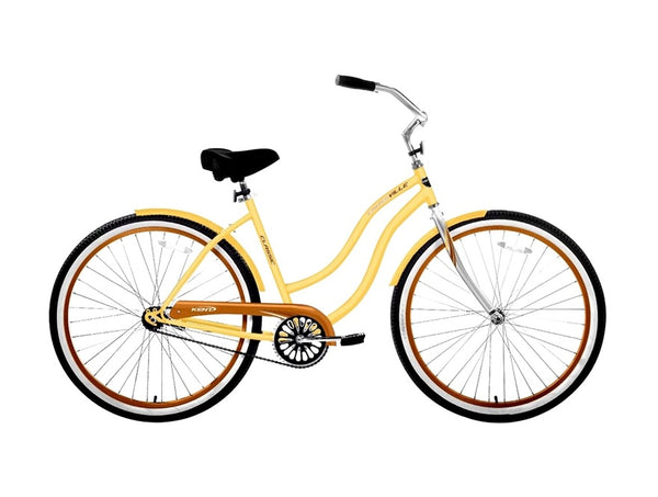 Kent 82661 Ladies Cruiser Bicycle with Steel Frame, Yellow, 26""
