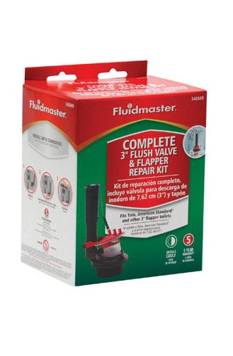 Fluidmaster 540AKRP5 Flush Valve And Flapper Repair Kit, 3""