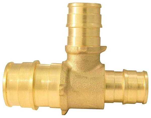 "Apollo EPXT341212 Pipe Reducing Tee, Brass, 3/4"" x 1/2"" x 1/2"