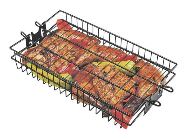 Grill Pro 24785 Non-Stick Flat Spit Rotisserie Grill Basket