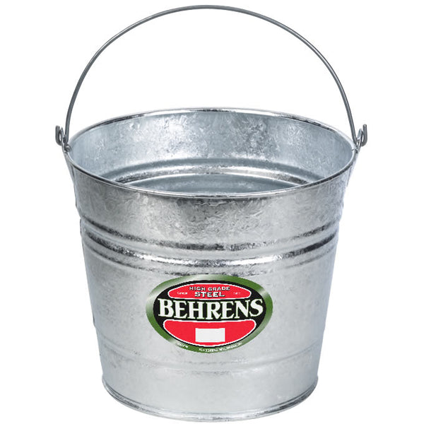 Behrens 1210 Hot Dipped Steel Pail, 10 Quarts