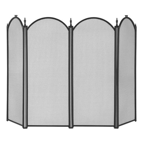 "Homebasix S41010BK-C3L 4-Panel Fire Screen, Black, 32"" x 51-1/2"""