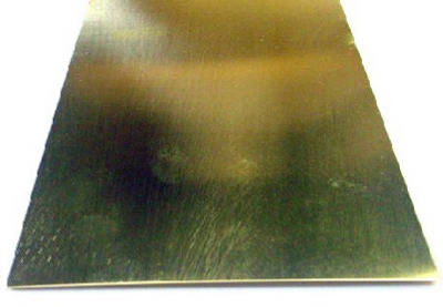 "K&S 253 Brass Sheet Metal, .032"" x 4"" x 10"""