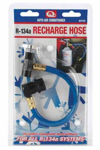 Quest 401PCS R-134A Recharge Hose For A/C Low Side Service Port, 12 Oz
