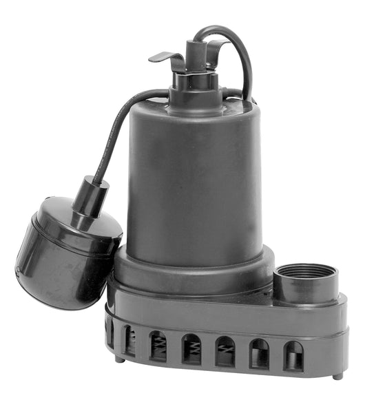 Superior Pump 92370 Heavy Duty Plastic Sump Pump, 1/3 HP