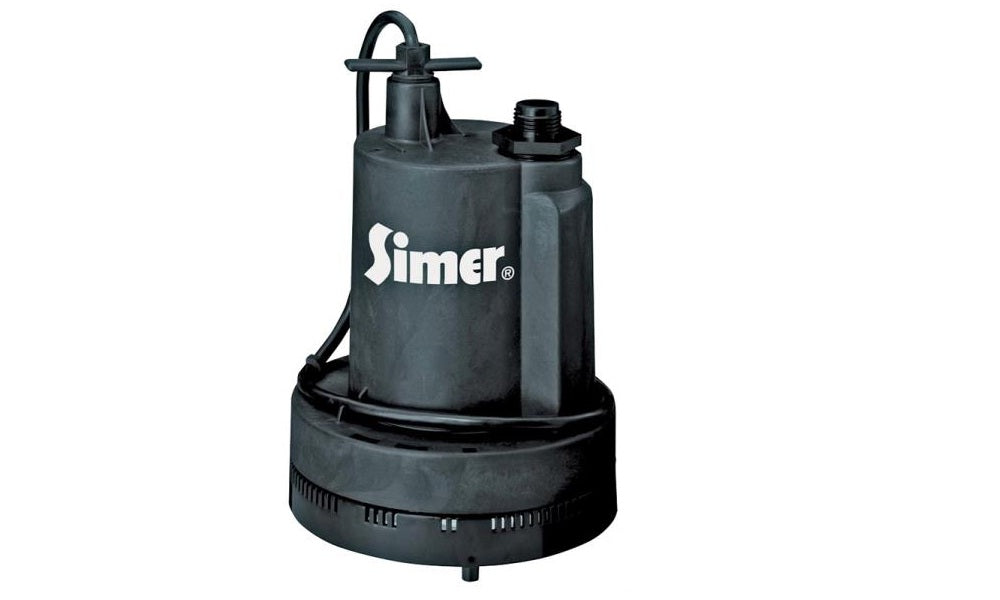 Simer FP0S1600X-08/2305 1/4 HP Submersible Utility Pump, 8'