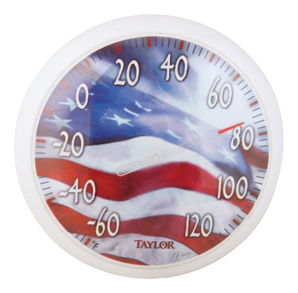 "Taylor 6729 Flag Thermometer 13.5"", White"