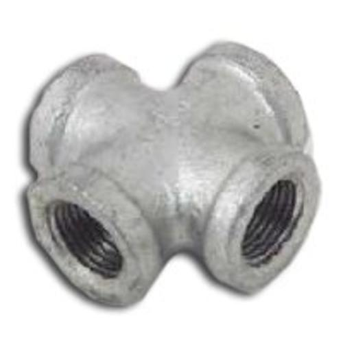 Worldwide PPG180-40 Galvanized Malleable Cross Pipe Fittings, 1-1/2""