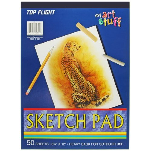 "Top Flight 4807103 Sketch Pad Drawing Paper, 8.75""x12"""