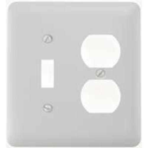 Amertac 935TDW Toggle & Duplex Wallplate, White