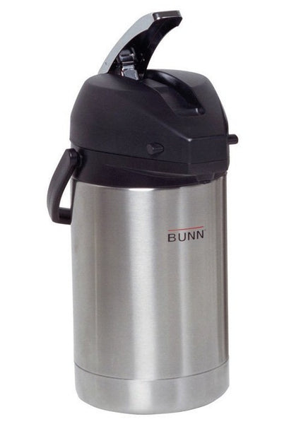 Bunn 32125.0000 Lever-Action Airpot Coffeepot, Stainless Steel, 84 Oz