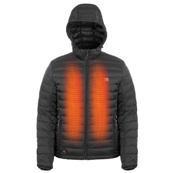 Mobile Warming MWJ19M09-01-06 Summit Men's Heated Jacket, Black, XXL