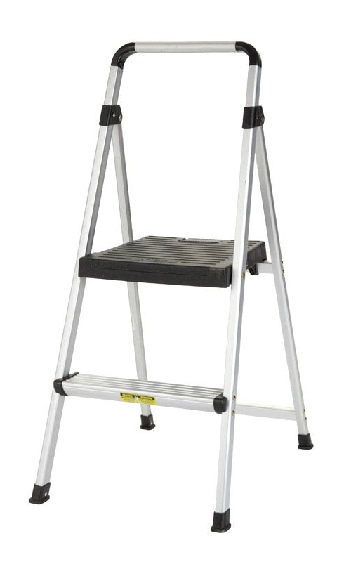 Cosco 11-628-ABK4 2-Step Stool, Aluminum