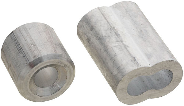 National Hardware N830-355 Ferrule and Stop, Aluminum, 1/4""