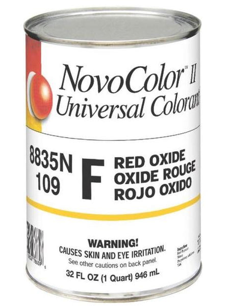 NovoColor II 8835N Universal Colorant, F Red Oxide, Quart