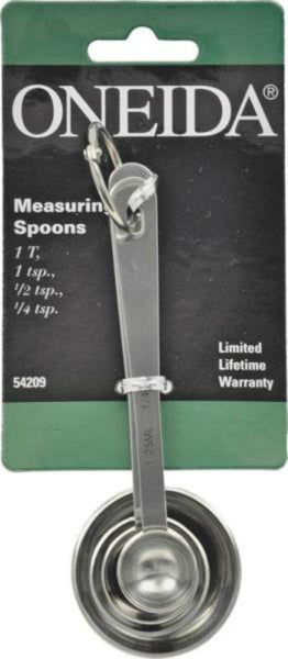 Oneida 54209 Measuring Spoon Set, 4 Piece
