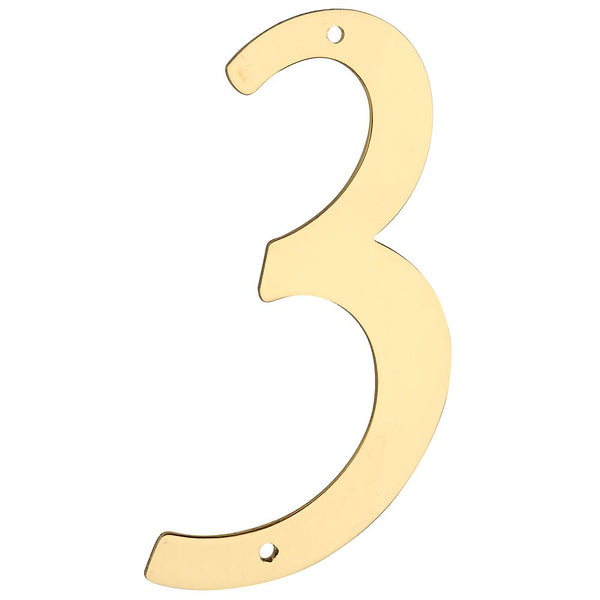 National Hardware N211-615 V1901 #3 House Numbers, Solid Brass, 4""