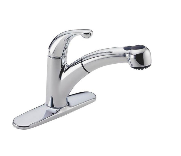 Delta 467-DST Palo Single Handle With Pull Out Spray Kitchen Faucets, Chrome