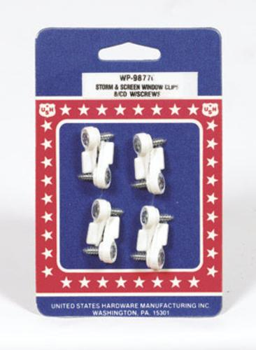 US Hardware WP-9877C Storm Window And Screen Clips, Pack-8