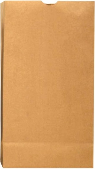 R3 18416 Flat Bottom Grocery Bag, Brown