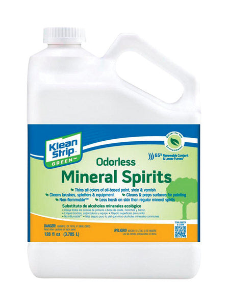 Klean Strip GKGO75CA Green Odorless Mineral Spirits, 128 Oz