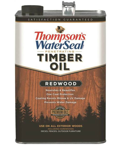 Thompson's WaterSeal TH.049811-16 Sealer Timber Oil Redwood, 1 Gallon