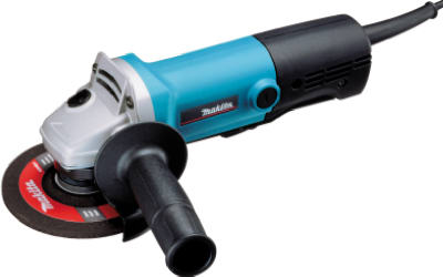 Makita® 9557NB Angle Grinder, with AC/DC Switch, 4‑1/2""