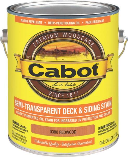Cabot 0380 Semi-Transparent Oil-Based Deck And Siding Stain, Gallon