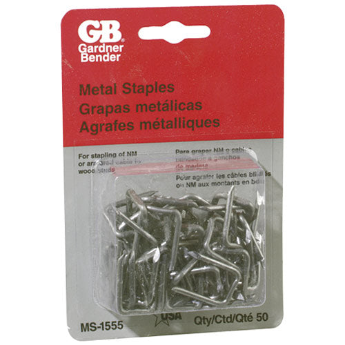"Gardner Bender MS-1555 Metal Wire Staple, 1/2"" x 1"""