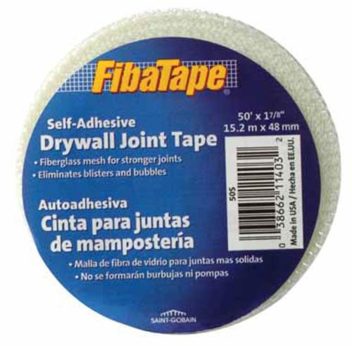 "Fibatape FDW6693-U Self-Adhesive Drywall Joint Tape 1-7/8""x50', White"