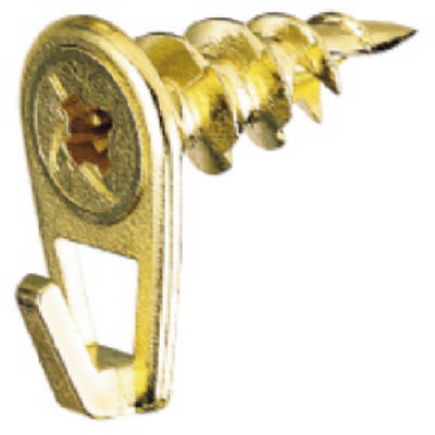 Hillman 122400 Wall Driller Picture Hooks, Large, Brass