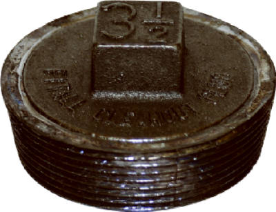 Lead Clean Out Plug 3-1/2""