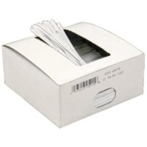 "Docuprint Forms & Signs WHITE TWIST TIES Docuprint Forms & Sings Twist Ties Flex Wire 9"" x 27 Gauge, White"