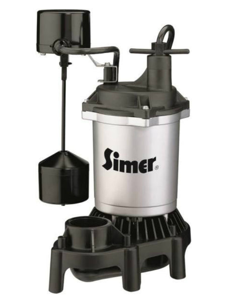 Simer 2164/2957 Submersible Thermoplastic Sump Pump, 1/3 HP