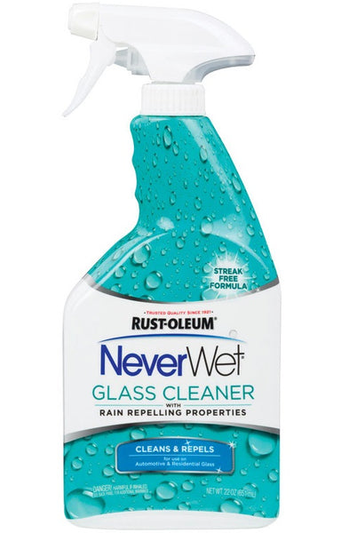 Rust-Oleum 293122 NeverWet Auto Glass Cleaner, 22 Oz