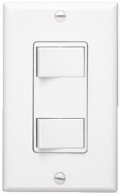 Broan P68W 2-Function Control Wall Switch, White