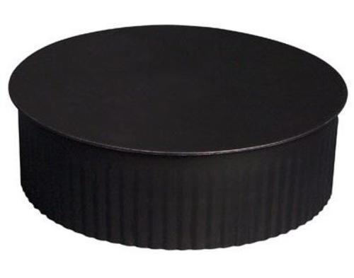 "Imperial BM0150 Round End Cap, 24 Gauge, 5"", Black"