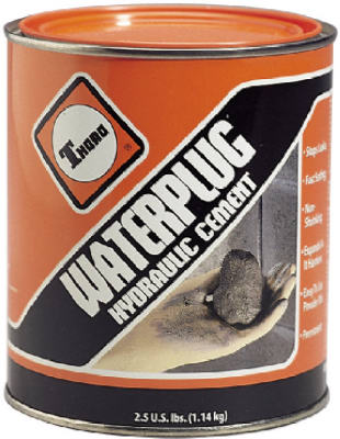 Thoro T5001 Waterplug Hydraulic Cement, 2-1/2 lb Cement Based