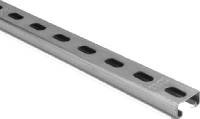 "Superstrut Steel Channel, 10' x 1-5/8"" x 13/16"" x 14 Gauge"