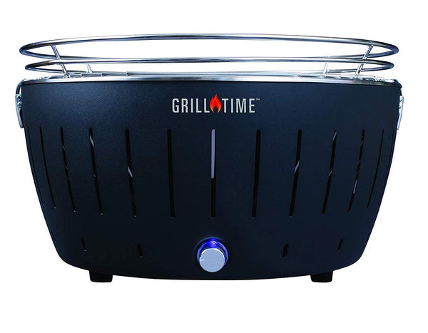 Grill Time UPG-G-18 Charcoal Portable Grill, Gray