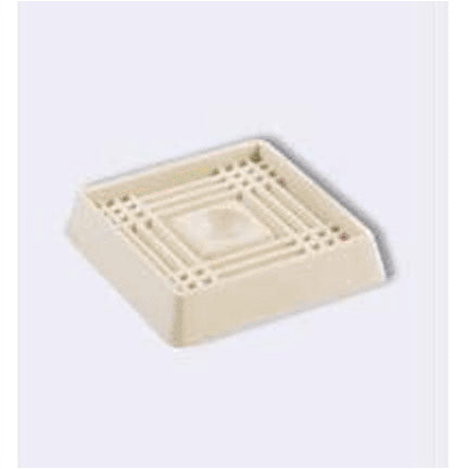 Shepherd 9166 Square Caster Cup, Off-White, 2""