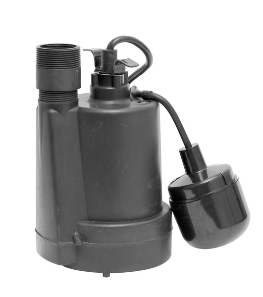 Superior Pump 92330 Thermoplastic Sump Pump With Tethered Float Switch, 1/3 HP