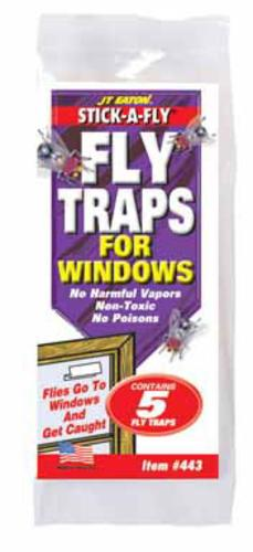 Jt Eaton 443 Stick-A-Fly Fly Traps for Windows, 5-Pack