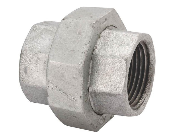 "Worldwide Sourcing 34B-1-1/4G 1-1/4"" Galvanized Malleable Ground Joint 150# Union"