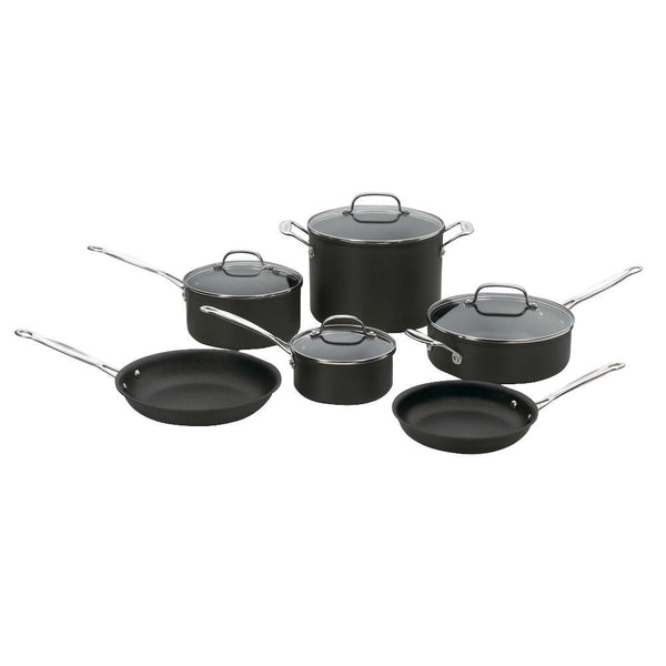 Cuisinart 66-10 Chef's Classic™ Non-Stick Hard Anodized Cookware Set, 10-Piece