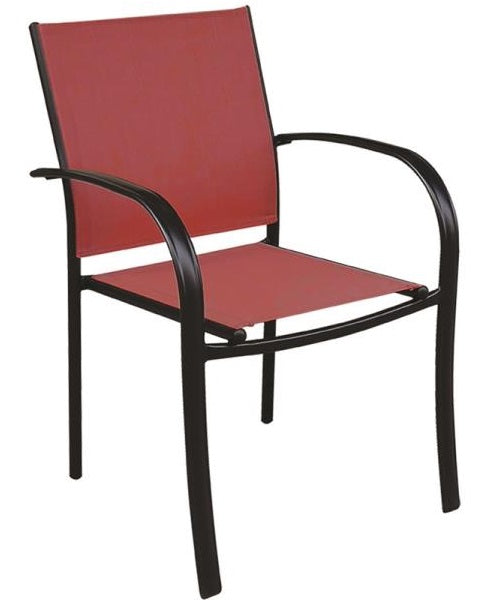 Seasonal Trends C4012SBKCY012 Belvedere Sling Dining Chair, Red