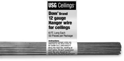 USG 207535 Grid Hanger Wire 6', 12 Gauge (50-Pack)