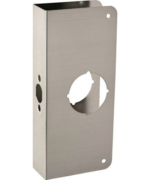 "Prosource HSH-050SBN-PS Door Reinforcer, Brushed Nickel, 4"" x 9"""