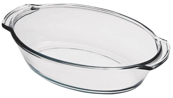 Anchor Hocking 82631BL11 Oven Basics Oval Roaster, 4 Quarts, Clear